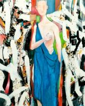 Woman in Blue Drape