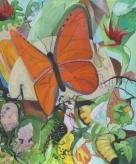 Orange butterfly 36 x 30