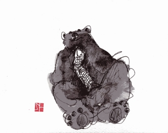 Bear w fish